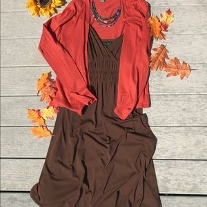Axcess Chocolate Brown Dress. Large